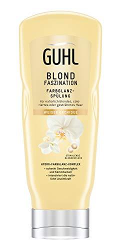 Guhl Blond Faszination Balsam-Spülung/Conditioner - mit weißer Orchidee - für natürlich blondes und coloriertes Haar, 200 ml