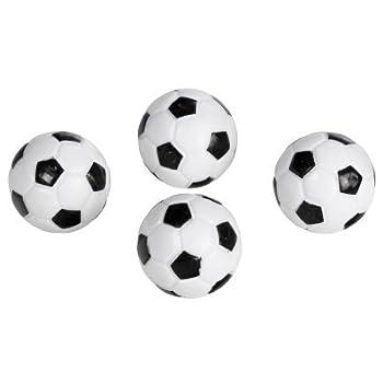 Regent-Halex Replacement Foosballs  Pack of 4  Black/White Small