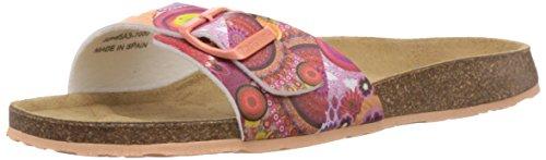 Desigual Shoes Orange - Sandalias Abiertas de Material sintético Mujer, Color Rosa, Talla 37