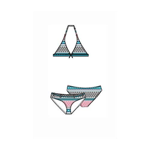 Stuf Neckholder Bikini Tini - Multicolor Stripes