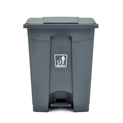 LSHWHT Cubos de Reciclaje Bote de Basura Industrial, Bote de Basura Comercial del Hotel de la Oficina Cubo de Limpieza del Tipo de Pedal Multifuncional plástico de Alta Capacidad HeWHui