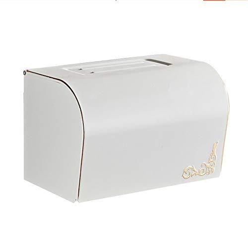 W.Jin Tissue Paper Holders Toilettenpapierhalter Toilettenpapierhalter Toilettenpapierfach-Hygienebehälter Weißer Papierfach-Handtuchhalter, Weiß