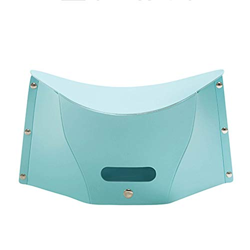XXY Folding Stool Portable Outdoor Low Stool Footstool, Suitable for Travel, Camping, Beach, Size 30x14x14 Cm (Color : Blue, Size : 30x14x14 cm)