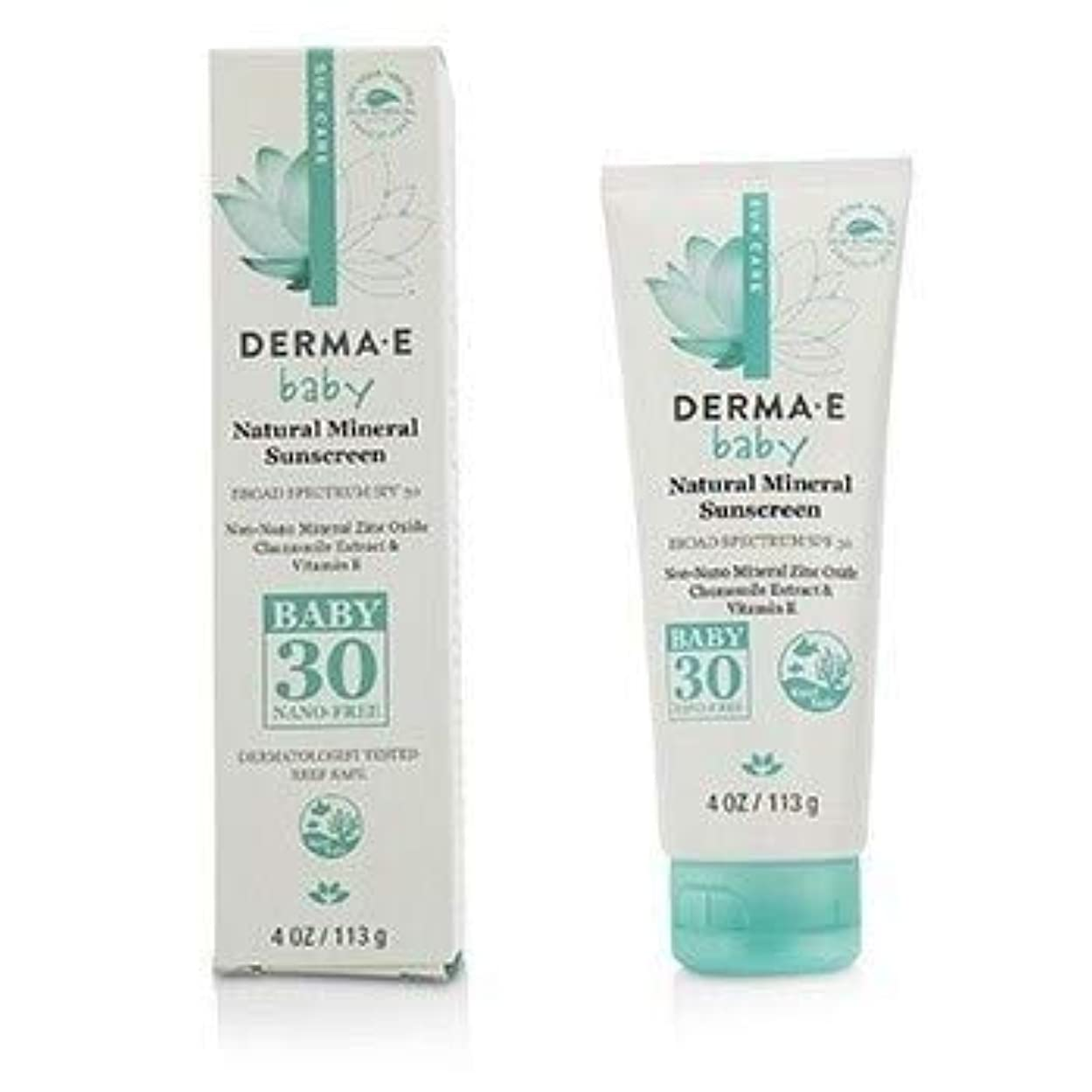 マニアゲージ本当にDerma E Natural Mineral Sunscreen Broad Spectrum SPF 30 - Baby 113g [並行輸入品]