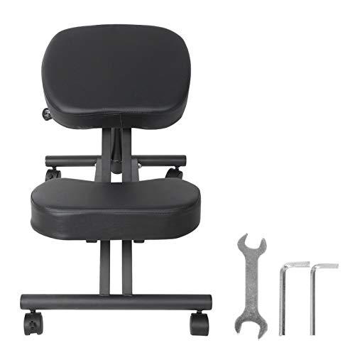 Sgabello ortopedico con 4 solide ruote girevoli Sedia ergonomica inginocchiatoio, per bambini, per ufficio domestico