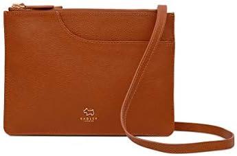 Radley London Womens Pockets Multi Compartment Leather Crossbody Medium Honey product image
