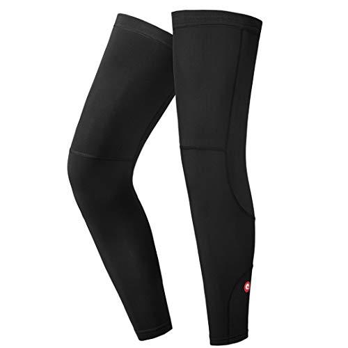 qualidyne Cycling Compression Sleeve, Calf Sleeves Fleece Thermal Full Long Sleeves Cycling Bicycle MTB Riding Leg Warmers