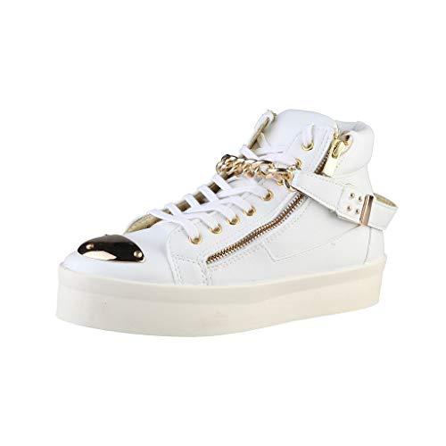 Woz DM1513_BIANCO damesschoenen sneakers boots laarsjes, wit, maat 40.