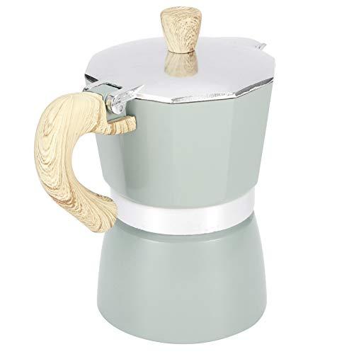 SALUTUY Hervidor para la mayoría de Placas de cocción Cafetera fácil de Limpiar para Estufa de Camping para Estufa de Gas para Oficina para el hogar(No. 3 Pot 150ML Lake Blue)
