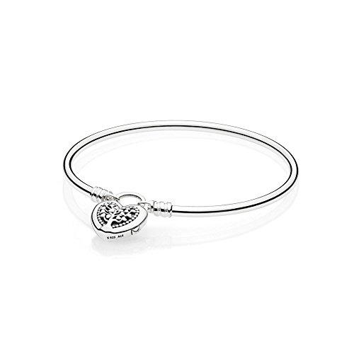 Pandora Moments Flourishing Hearts Damen Armreif 925 Sterlingsilber 19 cm
