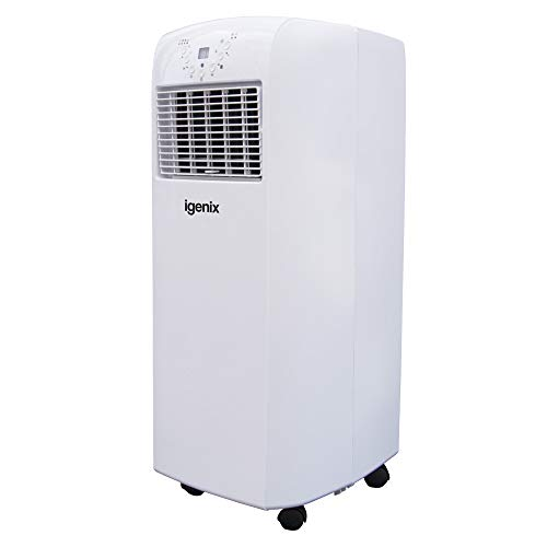Igenix IG9902 3-in-1 Portable Air Conditioner with Cooling, Heating and Fan Function, 3 Fan Speeds with Sleep Mode, Remote Control and 12 Hour Programmable Timer, White