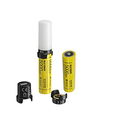 Combo: Nitecore 21700 Intelligent Battery System MPB21 KIT: 3-in-1 Light, Charger & Powerbank w/extra NL2150HPi battery