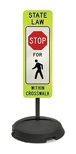 Tapco Wheeled-Base Sign - Stop For Pedestrian