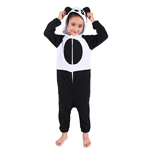Kids Panda Onesies Pajamas Polar Fleece Animal Costume for Boys and...