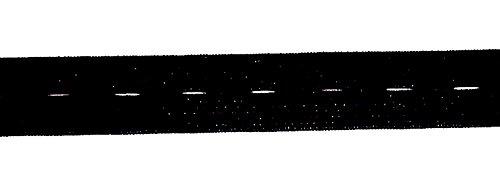 3 m Lochgummi 20 mm schwarz