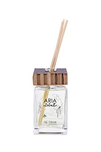 QC Terme Aria DOLOMITI 500ml Art Edition, Profumatore per Ambiente con Diffusore a Bastoncini, Fragranza Aromatica, Speziata, Legnosa e Muschiata, Made in Italy
