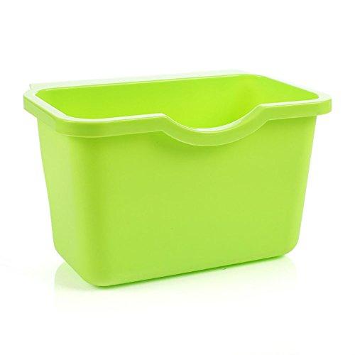 dljztrade Opknoping Prullenbak voor Keuken net Garbage Opslag Kan Monteerbaar voor Deuren en Strakke Plaatsen Eenvoudige installatie Praktische Tool Groen