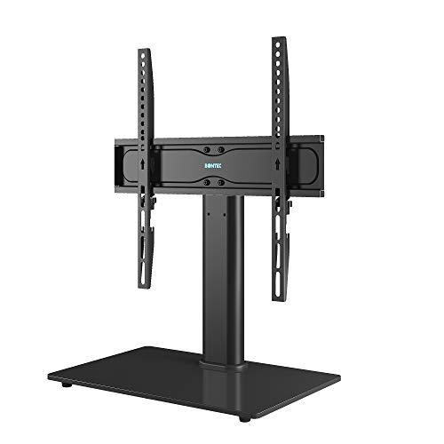 BONTEC Universale Supporto TV, Altezza Regolabile Piedistallo Stand per Schermo 26-55 Pollici LCD LED Plasma, VESA max 400x400 mm, che Regge fino a 40 Kg