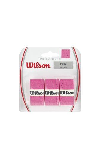 Wilson PRO Overgrip Perforated, Impugnatura per Racchetta da Tennis Unisex-Adulto, Rosa, Taglia Unica