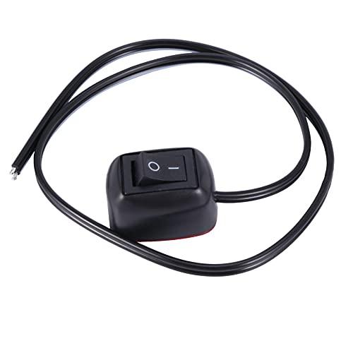 Bzocio Interruptor con forma de gota de agua, interruptor de 12 V, para luces antiniebla, DRL, barra luminosa LED, etc.