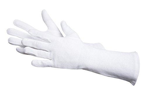 Jah 561-30 Baumwollhandschuh 12 Paar 30 cm lang oekotex schwer weiß Gr. 12