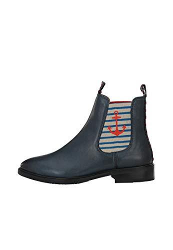 CRICKIT® Chelsea Boot Damen MONIA | Klassischer Chelsea Boot mit Anker für Damen aus 100% Leder | Anker Streifen