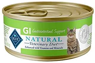 Blue Natural Veterinary Diet GI Gastrointestinal Support Grain-Free Canned Cat Food 12/5.5 oz