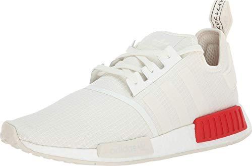 adidas Originals NMD_R1 Shoe Men's Casual 9.5 Off White-Lush Red