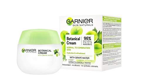 Crema botánica Garnier Skin Naturals con agua de uva para piel normal a mixta, 50 ml