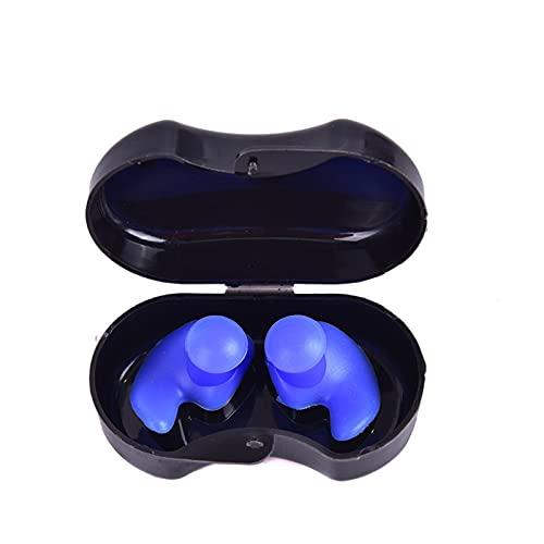 Tapones para los oídos para nadar 1 par arbusto de buceo deportes de agua Accesorios de natación con caja de colección Soft impermeable Earplacas a prueba de polvo oreja a prueba de polvo Silicona Spo
