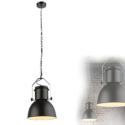 Lámpara de techo negra de estilo industrial – Lámpara colgante negra vintage...