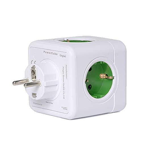 Enchufe de Cubo, 5 enchufes de 3680 W, Cargador Adaptador de Enchufe 5 en 1, para electrodomésticos, teléfonos Inteligentes, computadoras portátiles, etc., Material ignífugo, sin Cables