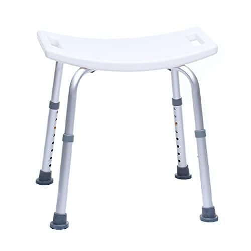 Mobility Plus - Duschhocker für Senioren - Duschsitz - Duschsitz - Höhenverstellbar, rutschfest, Stabil, bis 150 kg