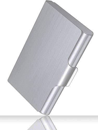 Professional Visitenkartenetui aus Metall für Visitenkarten im Taschenformat Visitenkartenetui Brieftasche Visitenkartenetui für Männer und Frauen, 22-30 Karten, große Kapazität, 3,7