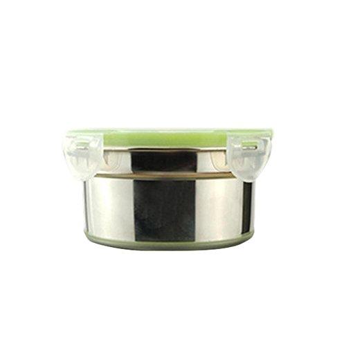 franktea 304 Edelstahl Lunchbox Frischhaltecrisper Visible Sealed Preservation Box Schüssel Lunchbox Mit Deckel Auslaufsicher