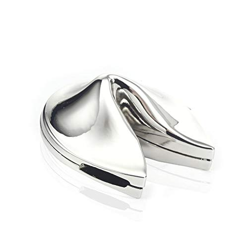Folsom Fashion Metal Fortune Cookies Gift Box (Silver)