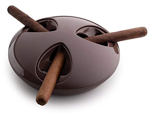 ASH STAY ASHSTAY Sealing Wind & Odor Resistant Indoor/Outdoor Cigar Ashtray (Coffee)