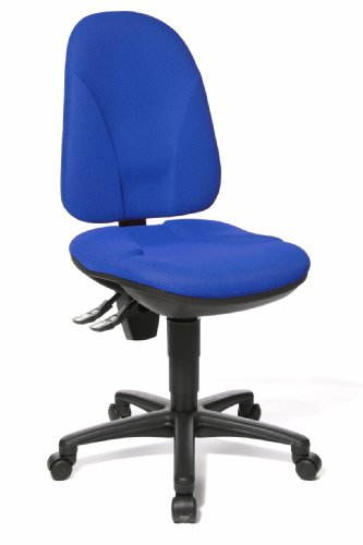 Topstar Point 35, Bürostuhl, Schreibtischstuhl, Rückenlehne höhenverstellbar, Bezugsstoff blau