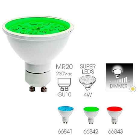 Easy Connect - LED Leuchtmittel GU10 MR20 - grün