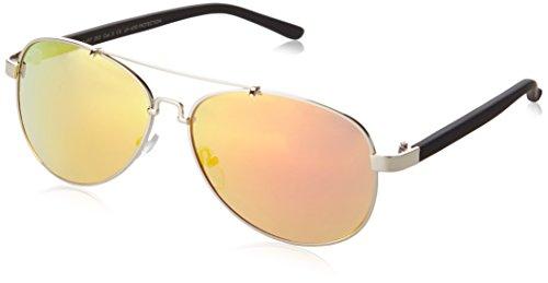 MSTRDS Unisex Sunglasses Mumbo Mirror Sonnenbrille, Silber (Silver/Orange 4470), One size