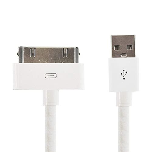 Moligin Transmisión de Datos por Cable de 30 Pines USB de Carga y Cable de sincronización de Conector Dock Cable de Datos para el iPhone 4 / 4S, iPhone 3G / 3G, iPad 3/2/1, el iPod