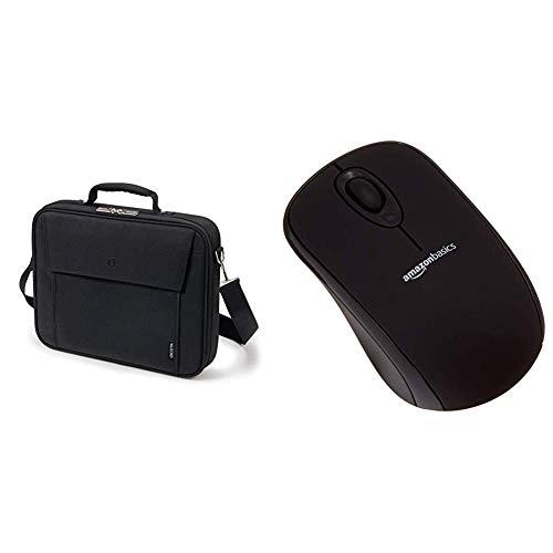 Dicota Base 15 Notebooktasche 39,6 cm (15,6 Zoll) mit Metalldrahtrahmen und AmazonBasics Schnurlose Maus mit Nano-Empfänger (schwarz)