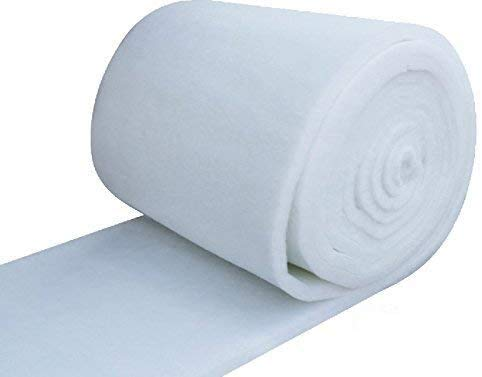 """IZO Home Goods 24 Inch Wide Dacron (2 Yards) Quilt Batting Dacron pad White Fabric by The Yard Polyester 3/8"""" Loft Upholstery Foam padd"""