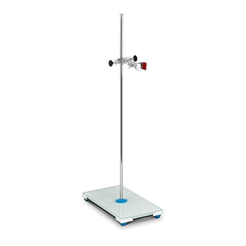 Steinberg Systems SBS-LS-400 Laborstativ mit Klemme und Muffe Glasboden 30 x 15 cm Länge Stativ 63 cm
