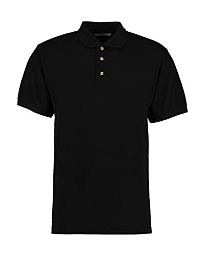 KUSTOM KIT Kustom Kit pflegeleichtes Piqué Arbeits-Poloshirt KK400,Farbe:Black;Größe:XS