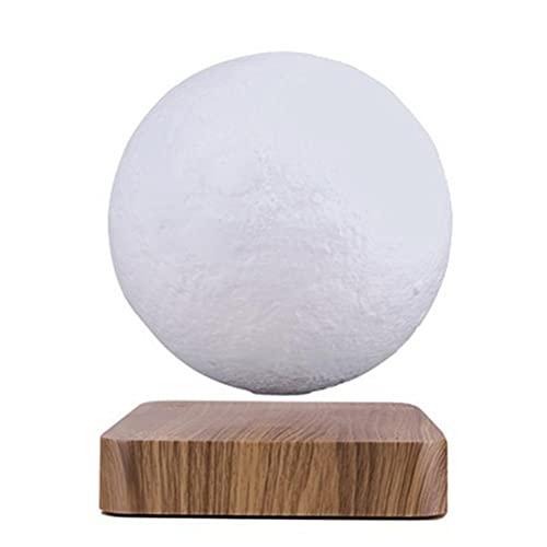 Dan&Dre Lámpara de luna flotante magnética con luz de luna flotante de lujo y con impresión 3D LED, decoración de habitaciones, luz nocturna, gradual