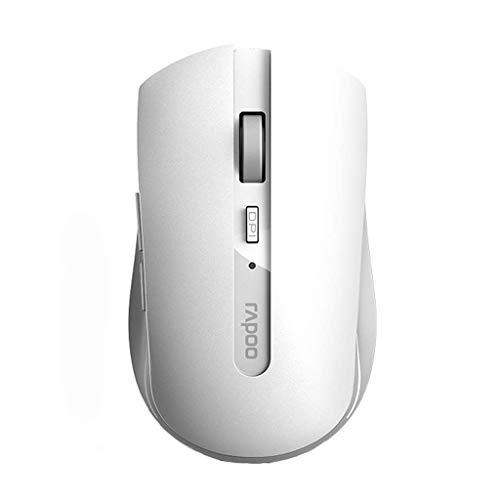 Pequeño ratón de la computadora y ratón inalámbricos portátiles Ordenador portátil silencioso de Escritorio computadora de Oficina Inicio Juego/Negro Silencio (Color: Negro) LQH (Color : Red)