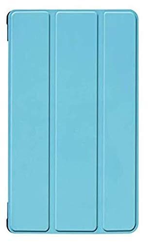 GZA Accesorios De Pestañas para Huawei MediApad T5 JDN2-W09 / AL00 8.0, Funda De Ploma De Cuero PU Tablet Soporte De Tableta para Huawei MediaPad M5 Lite 8 Pulgadas (Color : Sky Blue ka si te)