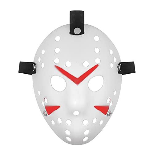 Udekit Jason Mask Halloween Masquerade Horror Face Mask Cosplay Costume Props for Women Men Kids