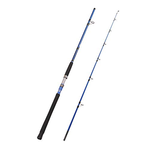 Fiblink 2-Piece Saltwater Spinning Fishing Rod Offshore Graphite Portable Fishing Rod (7-Feet) (7' Heavy)